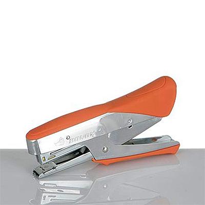 オレンジ色のクラシックステープラー ホッチキス