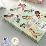 靴のイラストが可愛い マグネティックノート