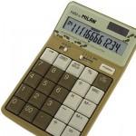 オリーブカラー ミラン 12桁電卓