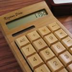 竹製の電卓