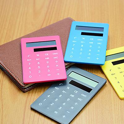 手帳に挟めるミニサイズクリップ電卓