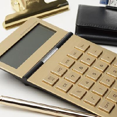 ゴージャスなゴールド電卓