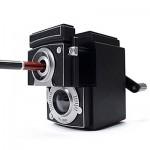 クラシックなカメラ風鉛筆削り