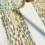 路線図がデザインされたテープ