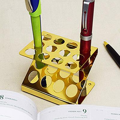 ゴールド(金メッキ)のペン立て