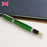 >色鮮やかなグリーンのウォーターフォード 万年筆