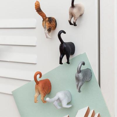 ネコのおしりマグネットセット