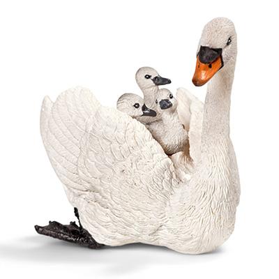 シュライヒ 白鳥の親子